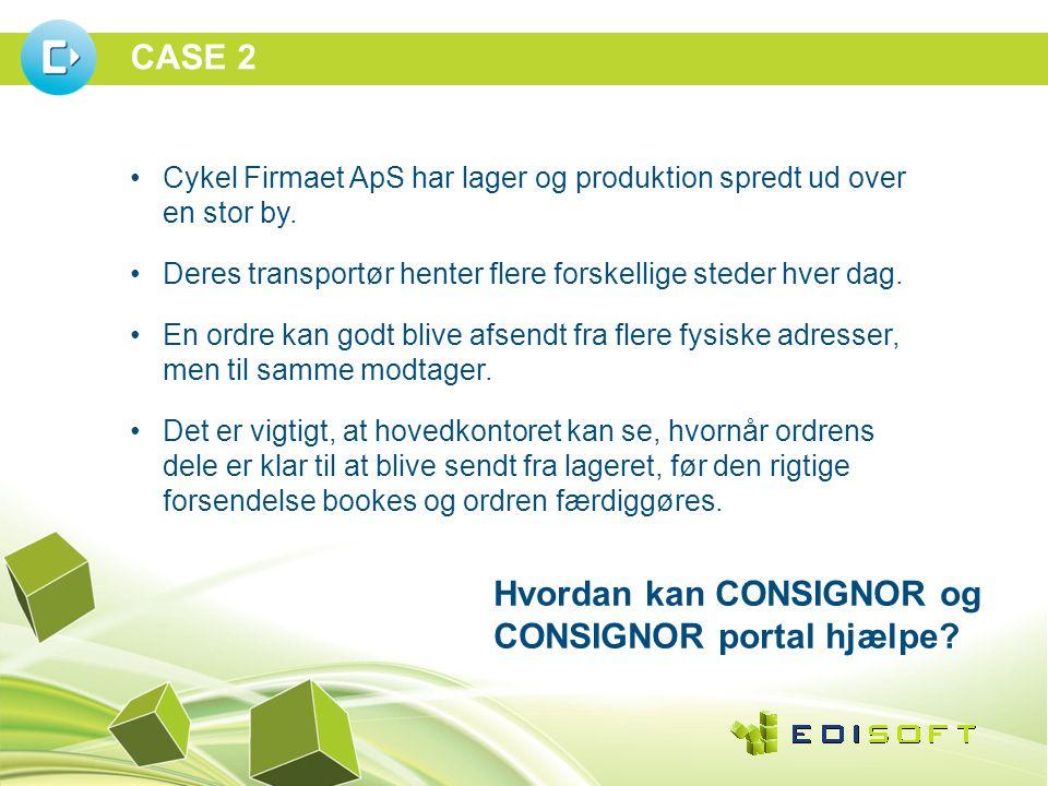 CASE 2 •Cykel Firmaet ApS har lager og produktion spredt ud over en stor by.