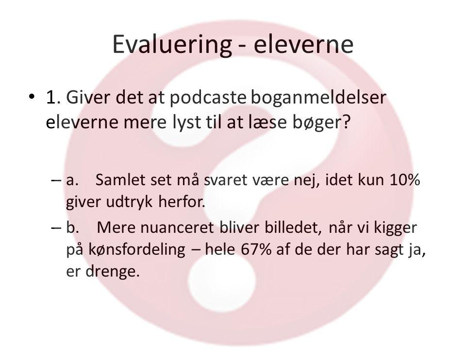 Evaluering - eleverne • 1.