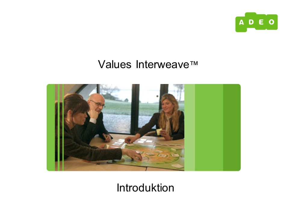Introduktion Values Interweave ™