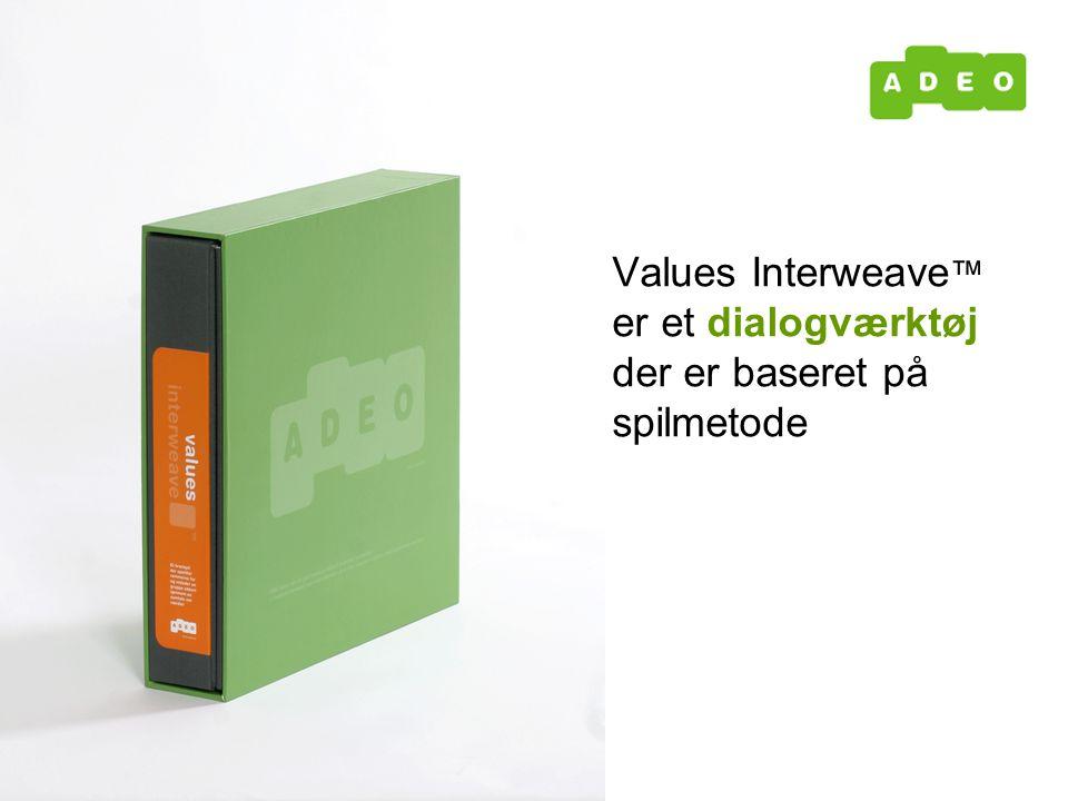 Values Interweave ™ er et dialogværktøj der er baseret på spilmetode