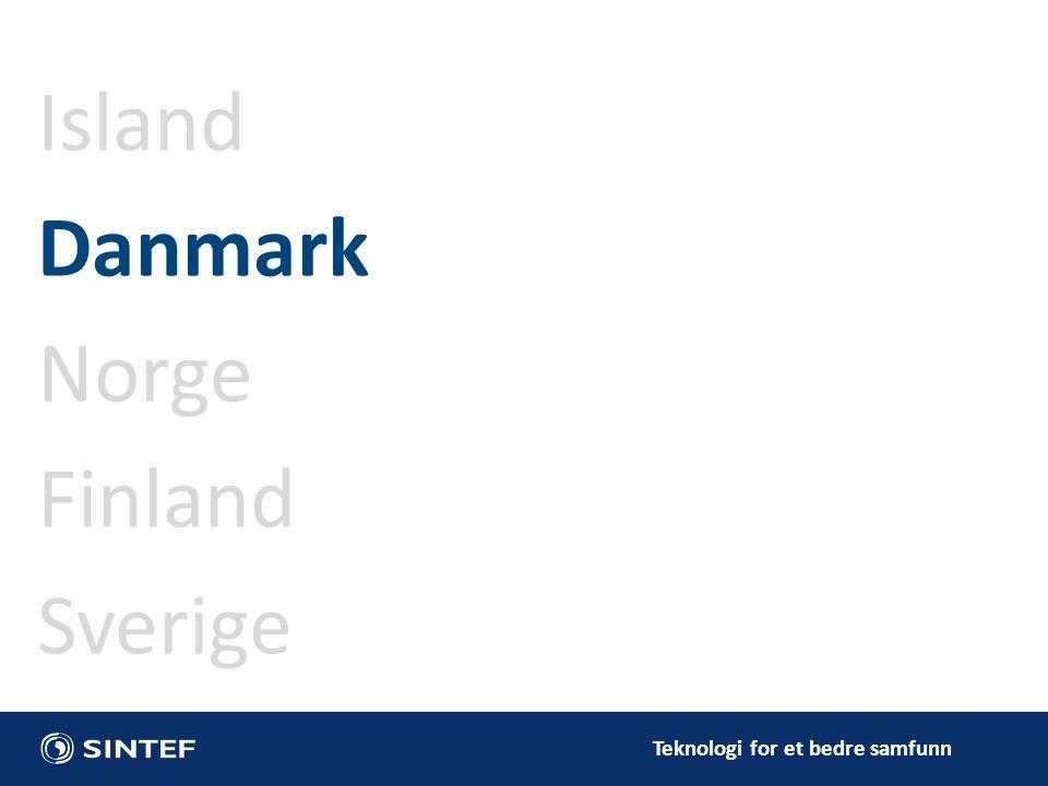 Teknologi for et bedre samfunn Island Danmark Norge Finland Sverige
