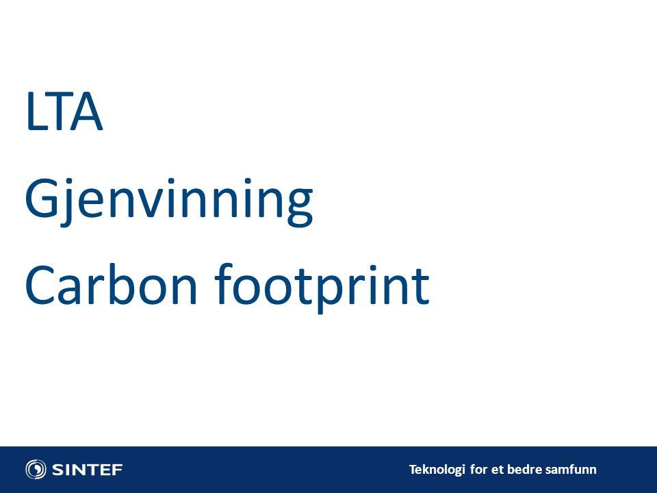 LTA Gjenvinning Carbon footprint