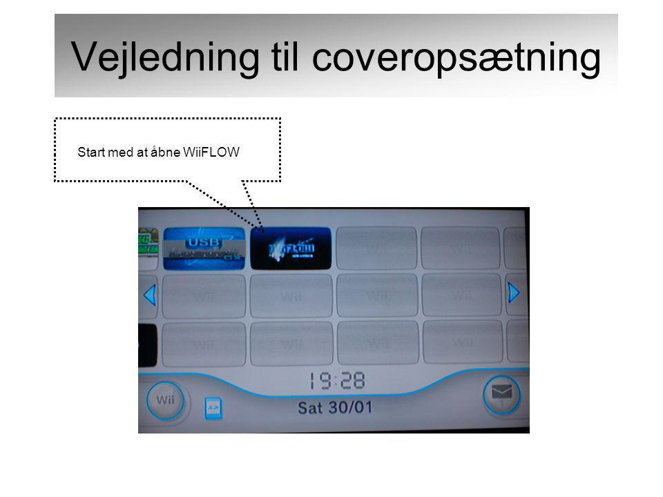 Start med at åbne WiiFLOW Vejledning til coveropsætning
