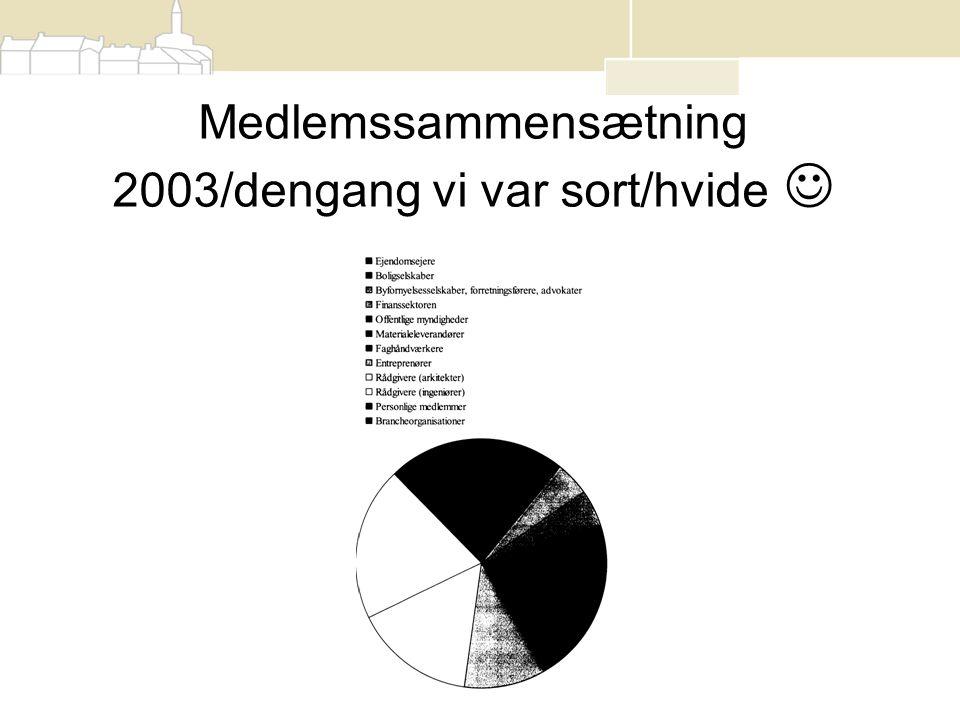Medlemssammensætning 2003/dengang vi var sort/hvide 