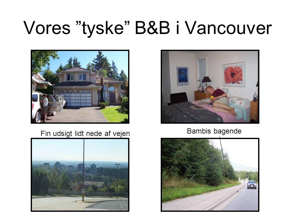 Vores tyske B&B i Vancouver Fin udsigt lidt nede af vejen Bambis bagende