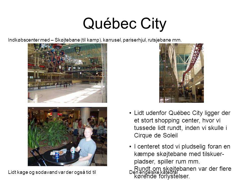 Québec City Indkøbscenter med – Skøjtebane (til kamp), karrusel, pariserhjul, rutsjebane mm.