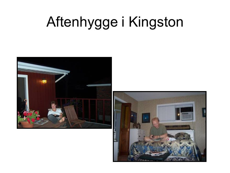 Aftenhygge i Kingston