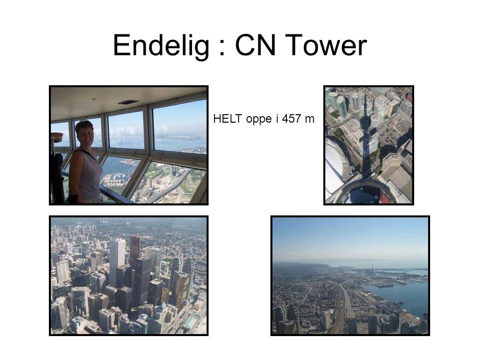 Endelig : CN Tower HELT oppe i 457 m