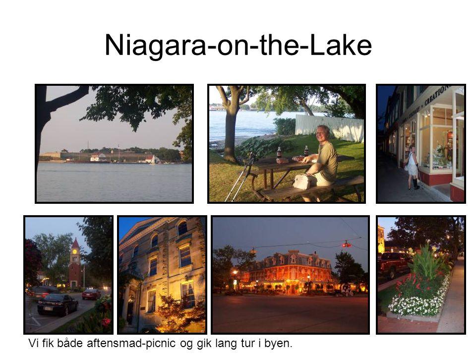 Niagara-on-the-Lake Vi fik både aftensmad-picnic og gik lang tur i byen.