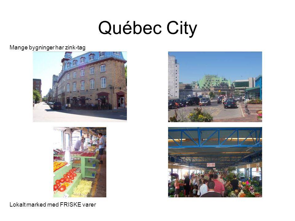 Québec City Mange bygninger har zink-tag Lokalt marked med FRISKE varer