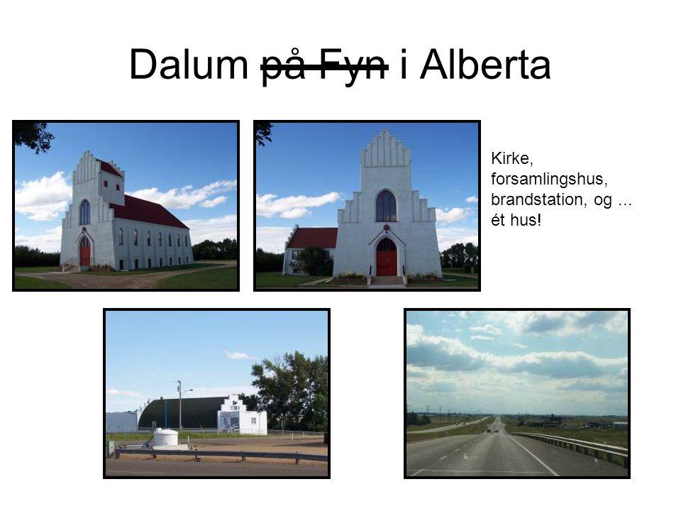 Dalum på Fyn i Alberta Kirke, forsamlingshus, brandstation, og... ét hus!