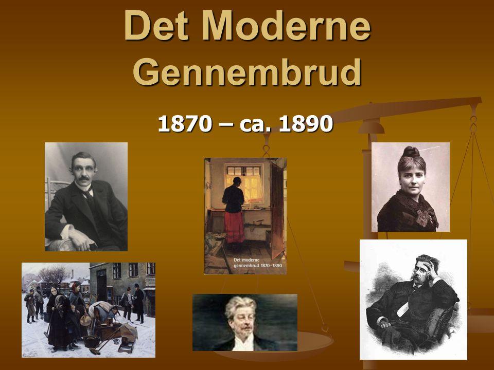 Det Moderne Gennembrud 1870 – ca. 1890