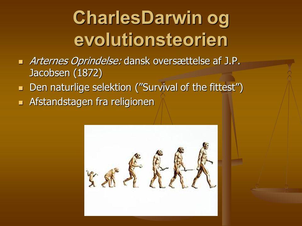 CharlesDarwin og evolutionsteorien  Arternes Oprindelse: dansk oversættelse af J.P.