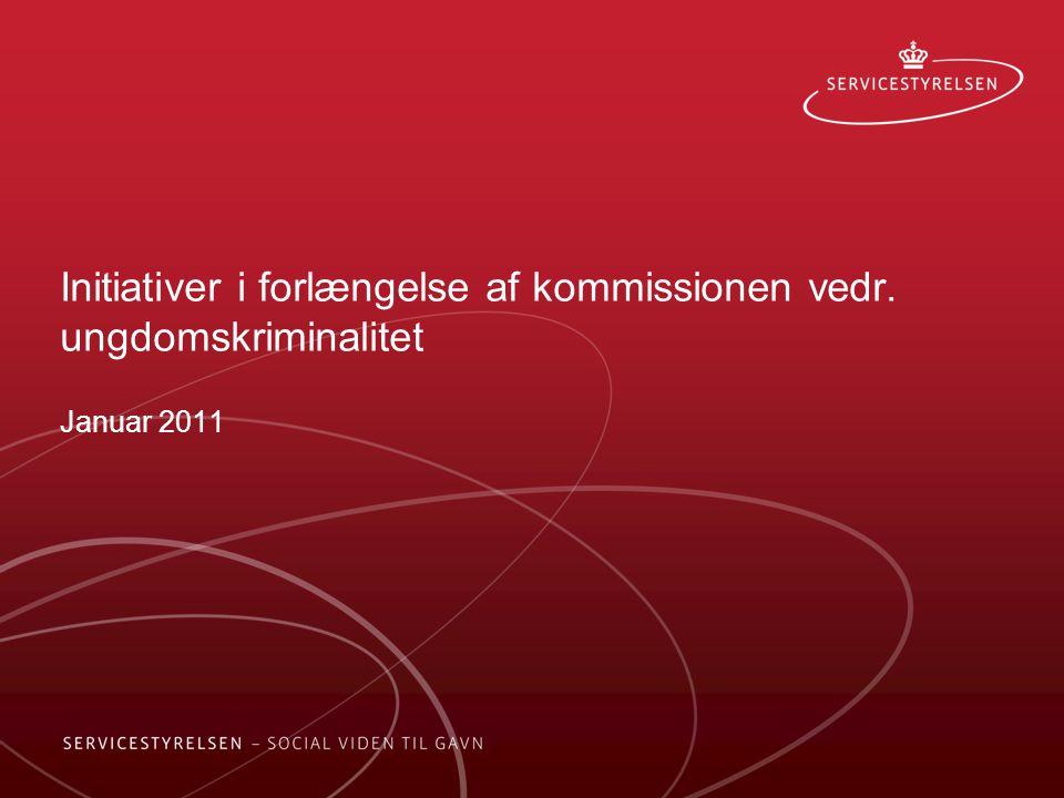 Initiativer i forlængelse af kommissionen vedr. ungdomskriminalitet Januar 2011