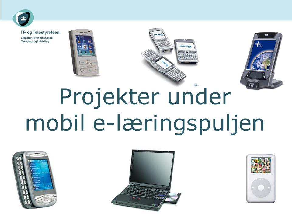Projekter under mobil e-læringspuljen