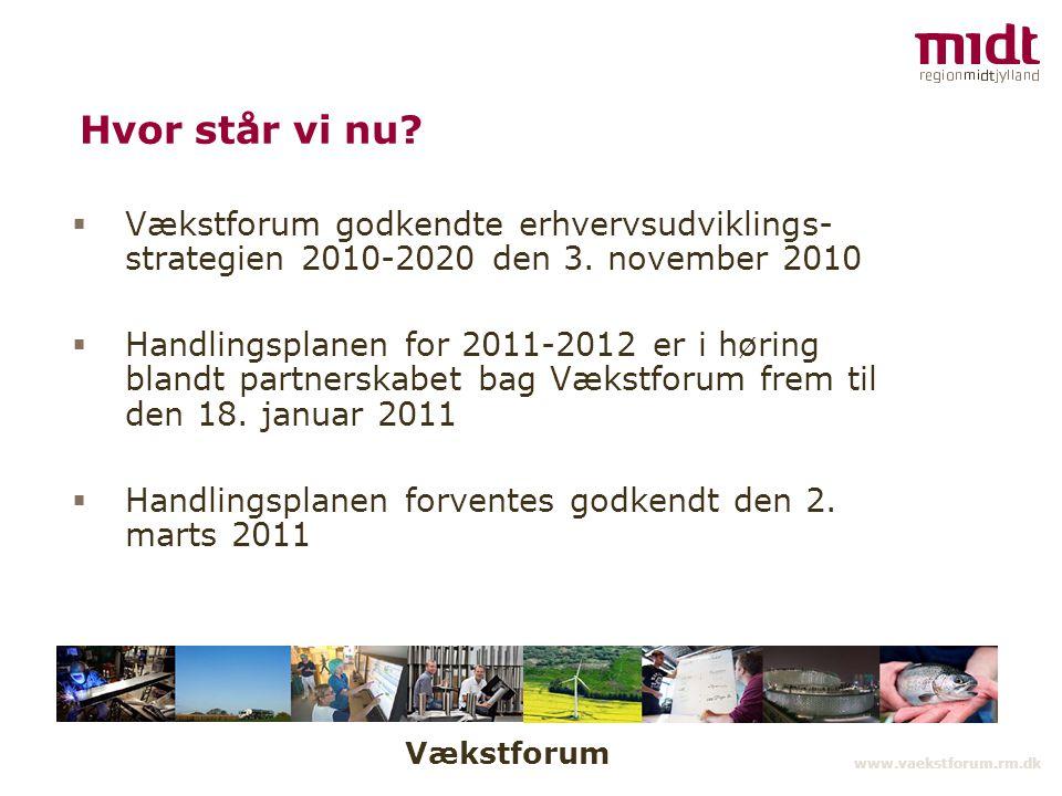 Vækstforum www.vaekstforum.rm.dk Hvor står vi nu.