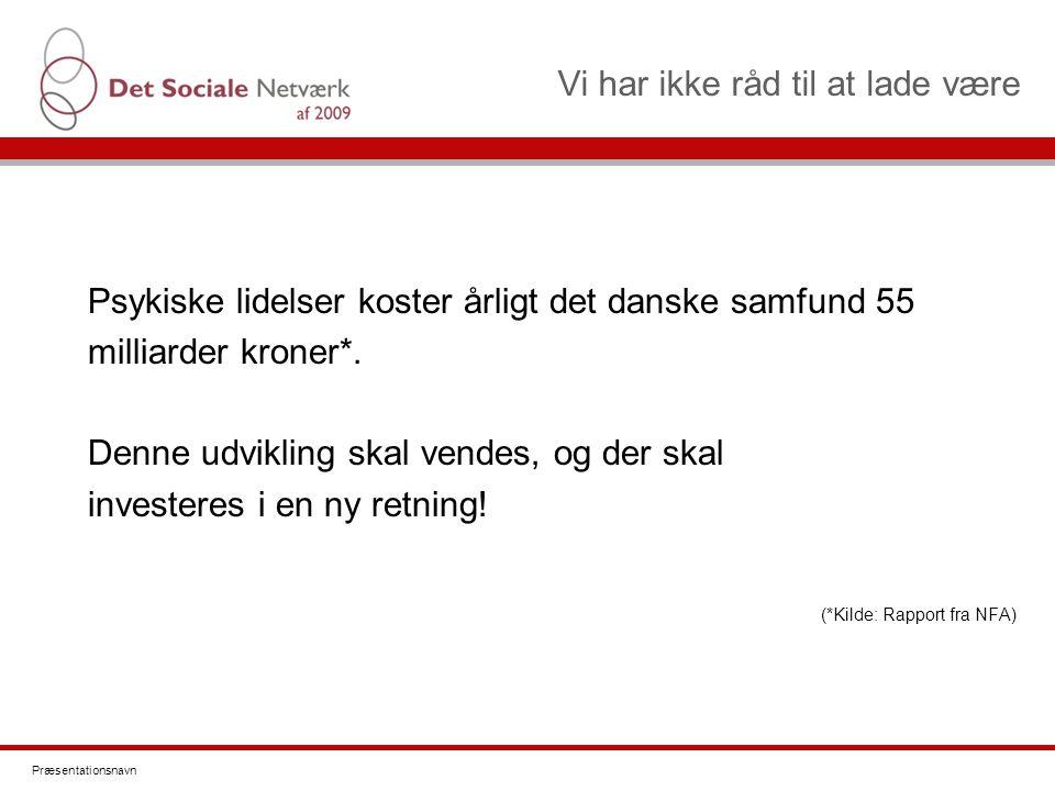Vi har ikke råd til at lade være Psykiske lidelser koster årligt det danske samfund 55 milliarder kroner*.