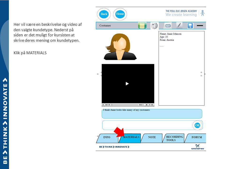 Her vil være en beskrivelse og video af den valgte kundetype.