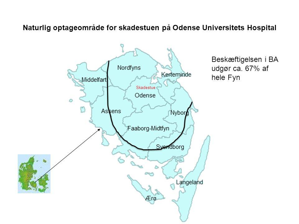 Naturlig optageområde for skadestuen på Odense Universitets Hospital Beskæftigelsen i BA udgør ca.