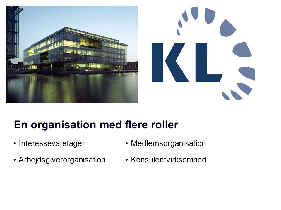 •Interessevaretager •Arbejdsgiverorganisation •Medlemsorganisation •Konsulentvirksomhed En organisation med flere roller