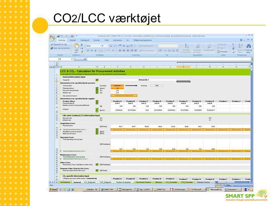 CO 2 /LCC værktøjet