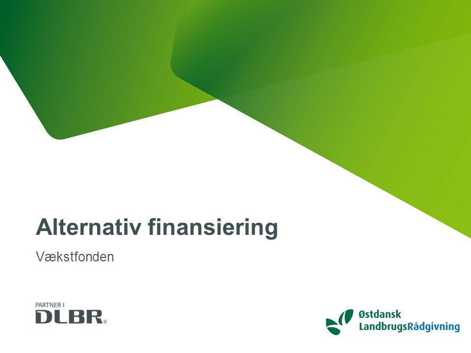 DLBR Alternativ finansiering Vækstfonden