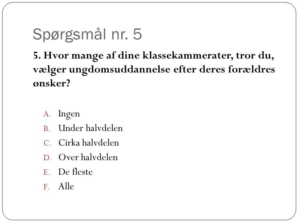 Spørgsmål nr. 5 5.