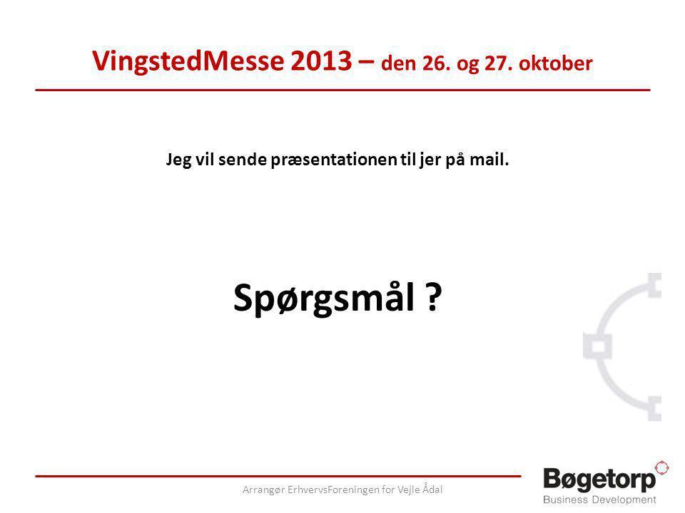 VingstedMesse 2013 – den 26. og 27. oktober Jeg vil sende præsentationen til jer på mail.