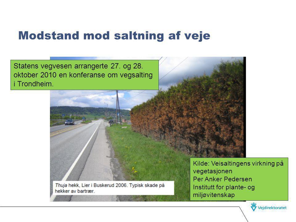 Modstand mod saltning af veje Statens vegvesen arrangerte 27.