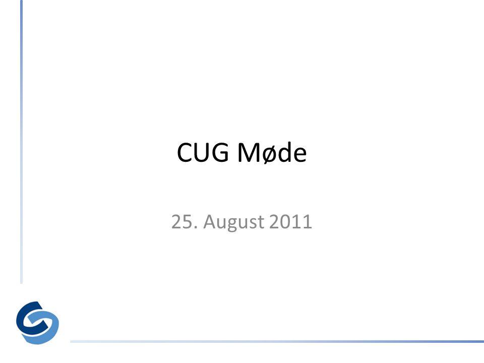 CUG Møde 25. August 2011