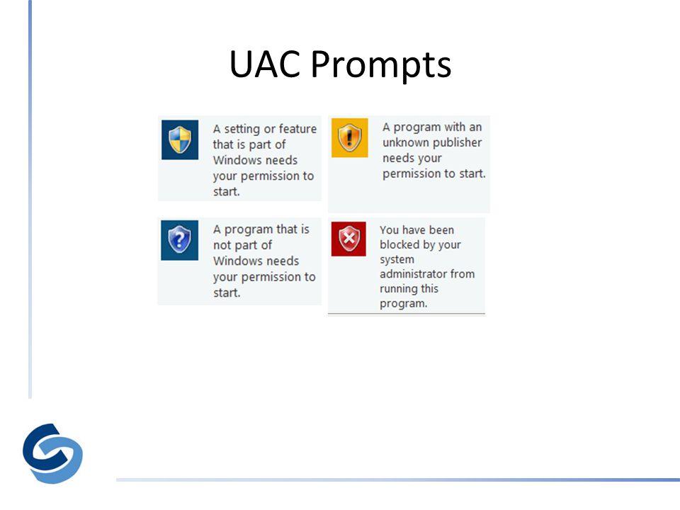 UAC Prompts