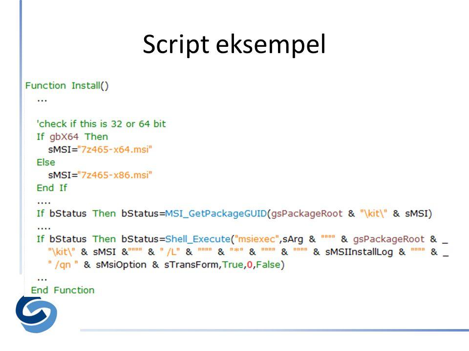 Script eksempel