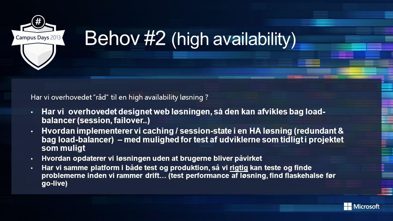 Har vi overhovedet råd til en high availability løsning .