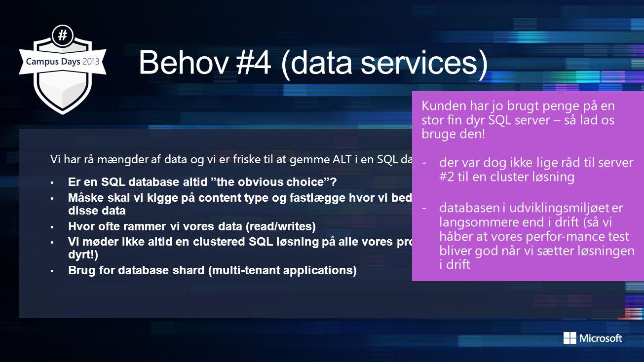 Vi har rå mængder af data og vi er friske til at gemme ALT i en SQL database.