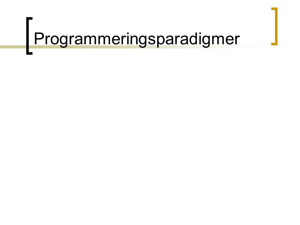 Programmeringsparadigmer