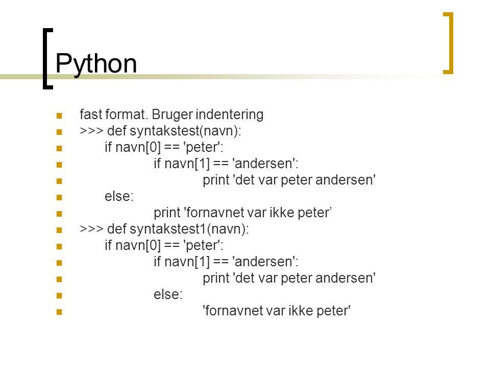 Python  fast format.