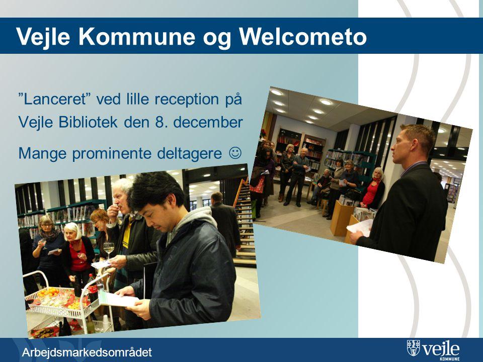 Arbejdsmarkedsområdet Lanceret ved lille reception på Vejle Bibliotek den 8.
