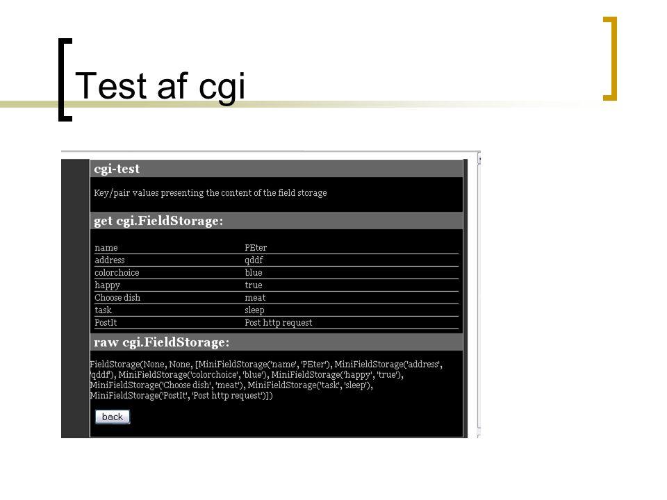 Test af cgi