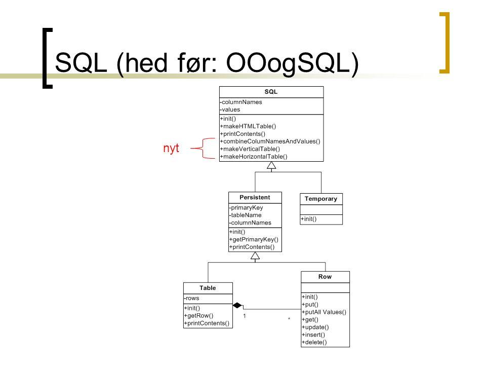 SQL (hed før: OOogSQL) nyt