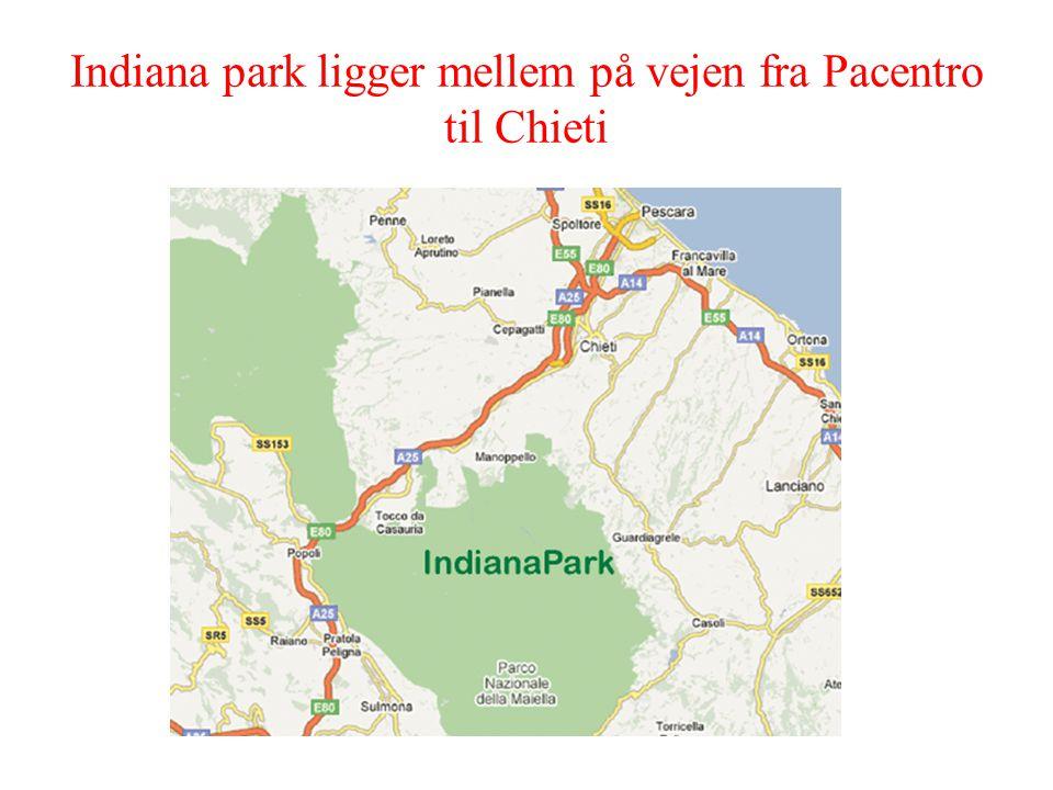 Indiana park ligger mellem på vejen fra Pacentro til Chieti
