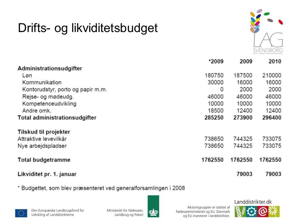 Drifts- og likviditetsbudget