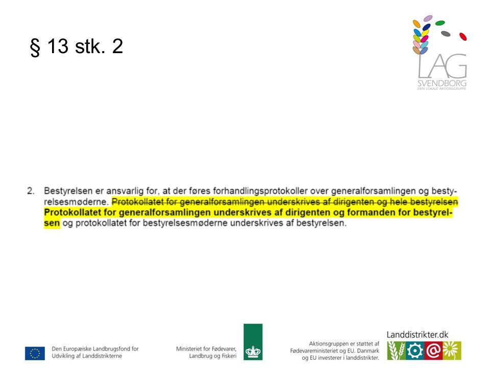 § 13 stk. 2