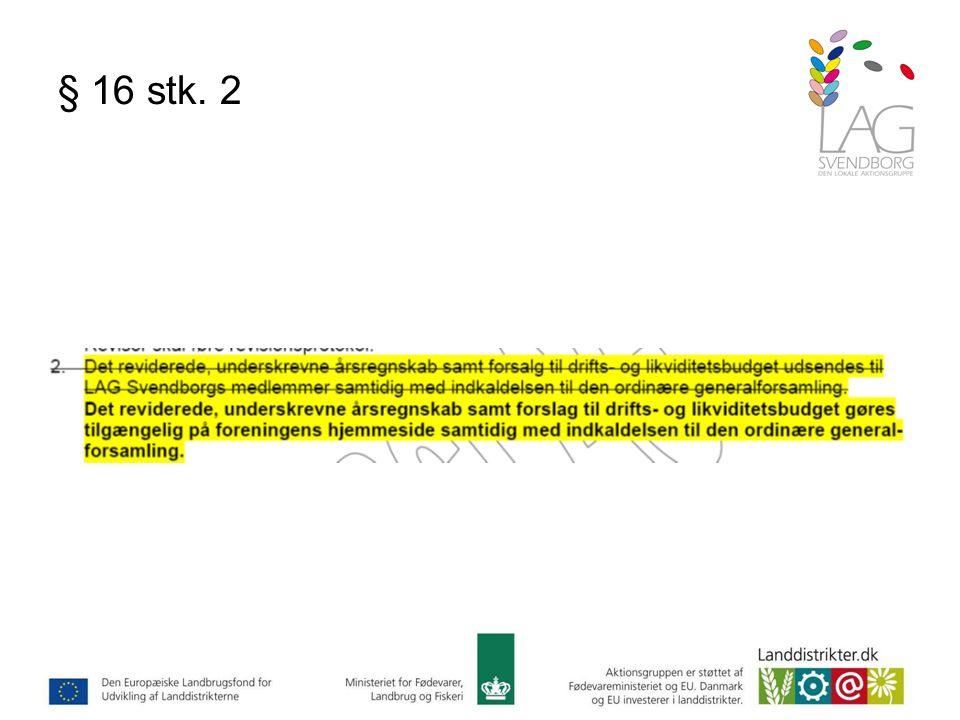 § 16 stk. 2