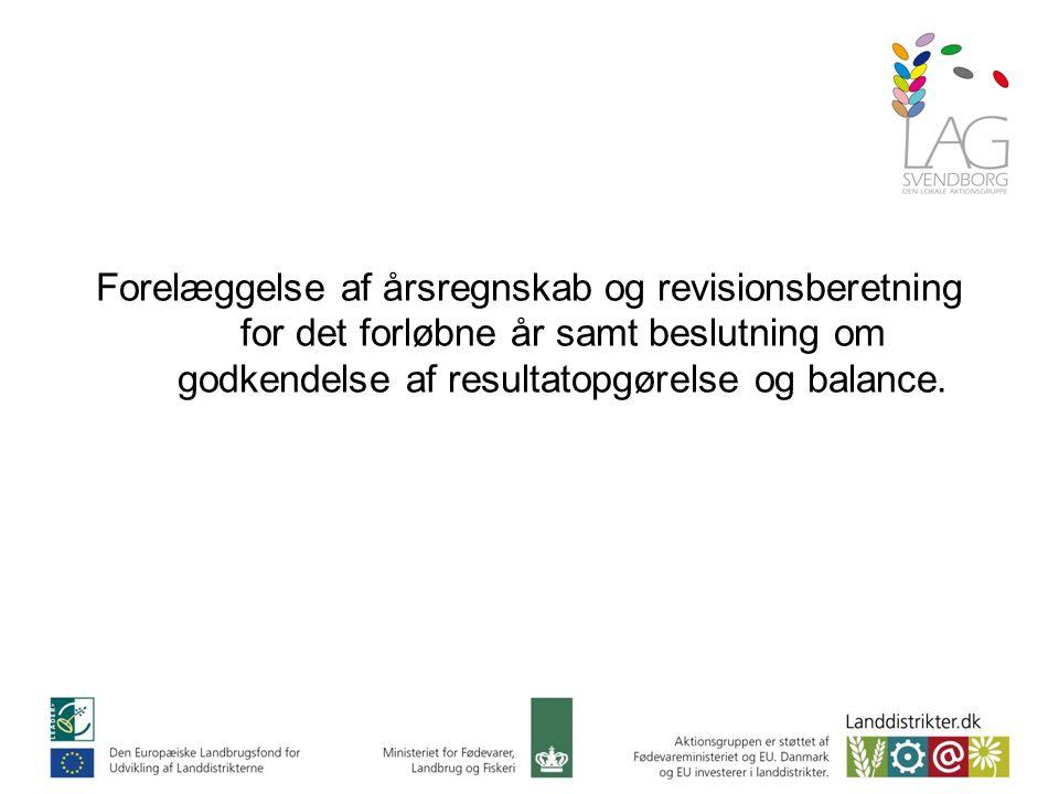 Forelæggelse af årsregnskab og revisionsberetning for det forløbne år samt beslutning om godkendelse af resultatopgørelse og balance.