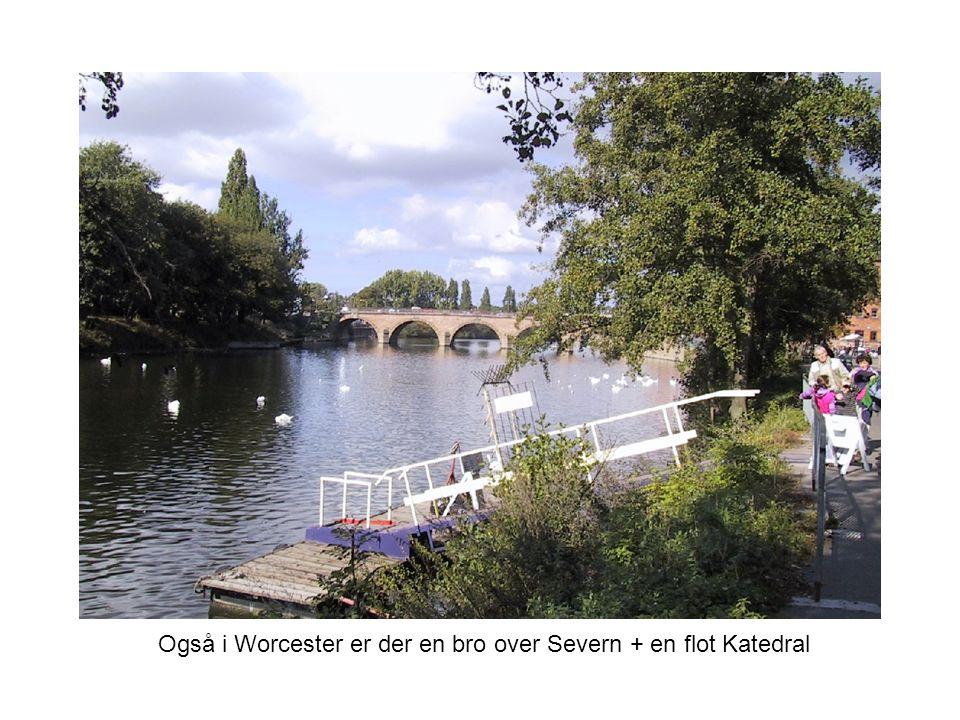 Også i Worcester er der en bro over Severn + en flot Katedral