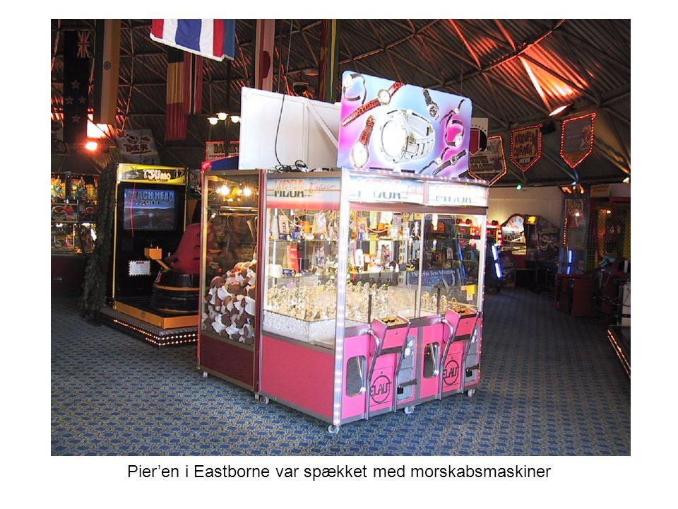 Pier'en i Eastborne var spækket med morskabsmaskiner