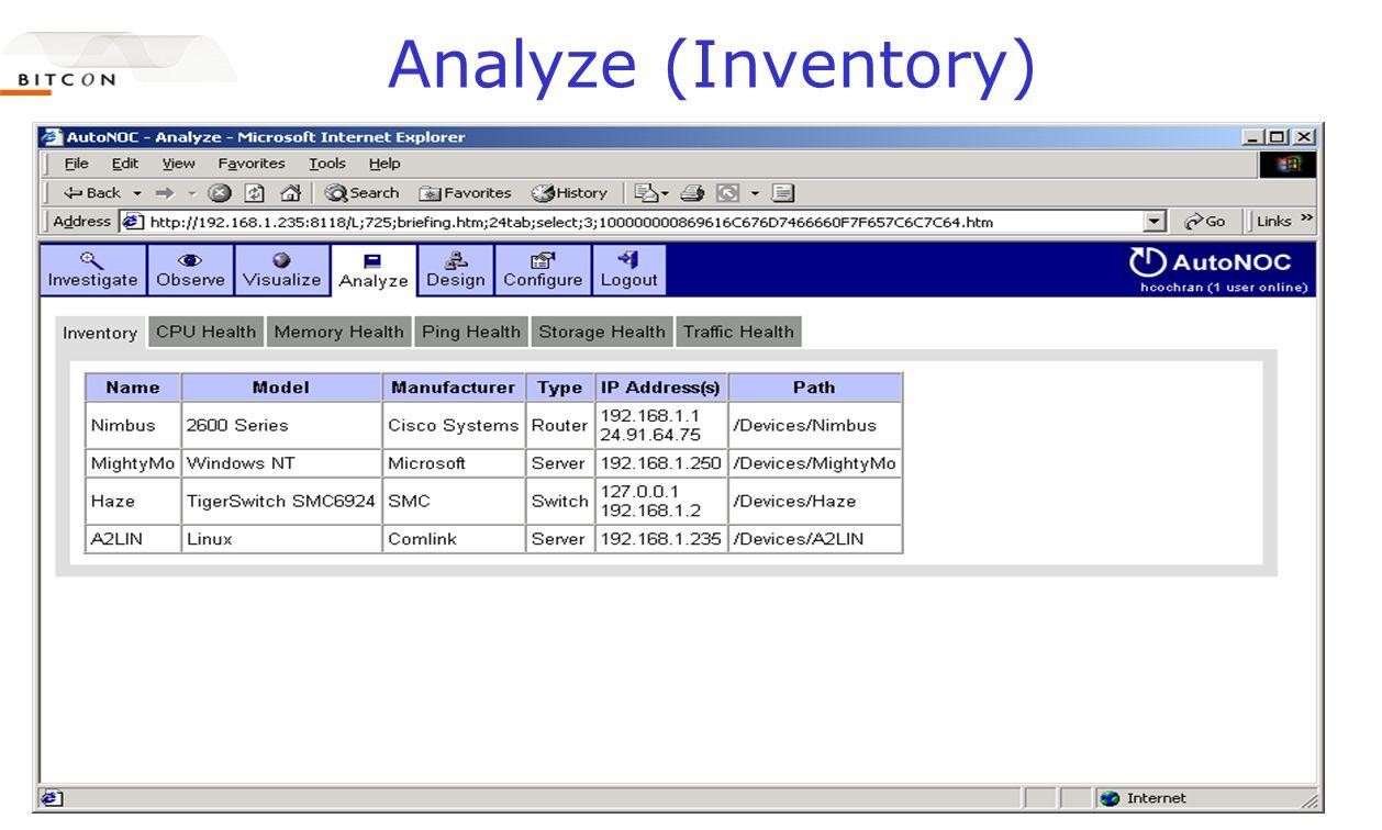 Analyze (Inventory)