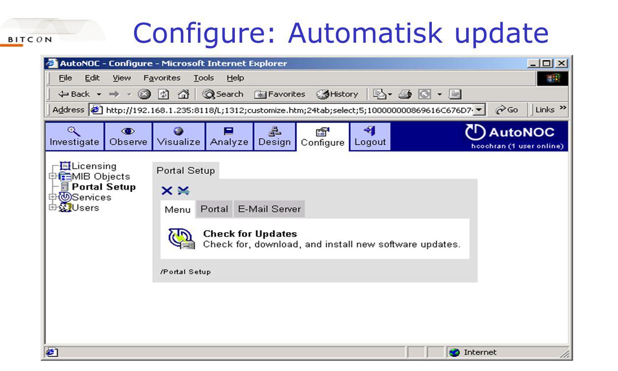 Configure: Automatisk update