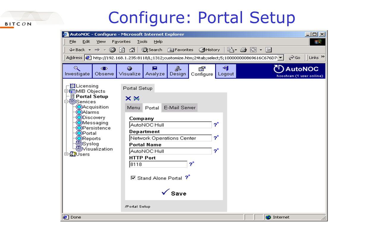 Configure: Portal Setup