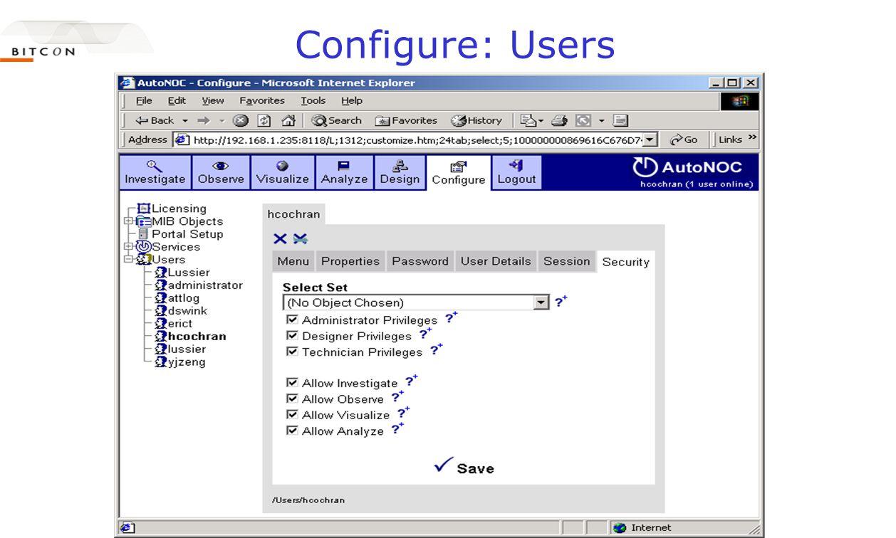 Configure: Users